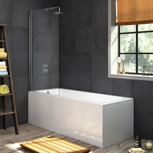 AquaSoak 1700 x 700 Single Ended Straight Shower Bath